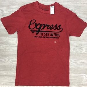 NWT express tee shirt with velvet letters size Xs